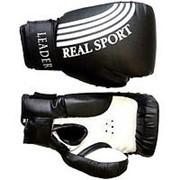Перчатки боксерские Leader 6 унций (Черный) фото