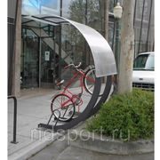 Велопарковка 45 градусов с навесом H-2 фото