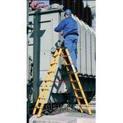 Лестницы-стремянки алюминиевые профессиональные Krause Стремянка с 2x6 ступенями (стекловолокно) 817815 фото