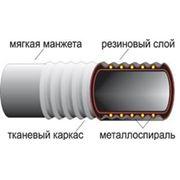 Рукава резиновые напорно-всасывающие с текстильным каркасом фото