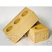 Кирпич силикатный лицевой полуторный пустотелый (жёлтый) фото
