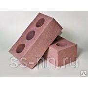 Кирпич силикатный лицевой полуторный пустотелый (розовый) фото