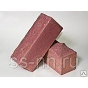 Кирпич силикатный рельефный с гидрофобным слоем (розовый) фото
