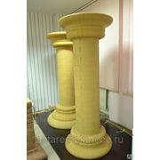 Колонна круглая ЛИТОС, цвет - слоновая кость фото