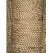 Канат джутовый отделочный тугой троссовой свивки 20мм Бангладеш