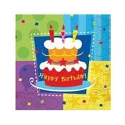 Салфетка Торт Birthday 33см 12 шт фото