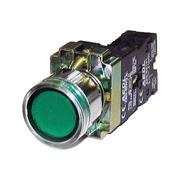 Кнопка XB2-BW3361 с подсв. металл. осн. зеленая фото