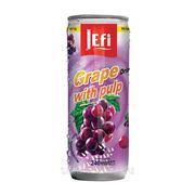 """Фруктовый напиток в банках с кусочками фруктов """"JEFI"""" с виноградом, 240 мл, Малайзия фото"""