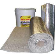 Изовент – базальтовый рулонный фольгированный материал + клеевой состав ПВК-2002 (белый), огнестойкость EI60. фото