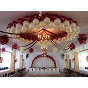 Украшение зала шарами фото