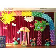 Оформление и украшение воздушными шарами детских праздников фото