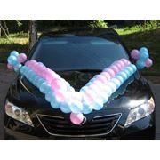Украшение машин воздушными шарами фото