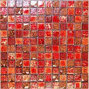 Стеклянная мозаика с камнем Antik-1 300*300*8 фото