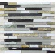 Стеклянная мозаика с камнем Style time-198 300*300*8 фото
