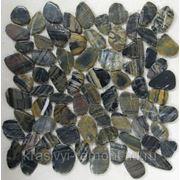 Мозаика из натурального камня Flat Tiger jack 305*305*8 фото