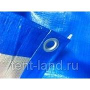 "Тент ""Тарпаулин"", 10х20, 180 г/м2, синий, шаг люверса 1м. фото"