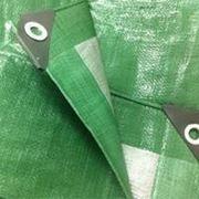 """Тент """"Тарпаулин"""", 3х4, 90 г/м2, зеленый, шаг люверса 1м. фото"""