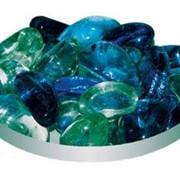 Грунт стекл. 08 шт № 102 полумесяцы черные и зеленые фото