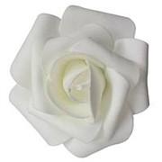 Декор свадебный Роза белая 12см фото