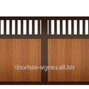 Распашные ворота DoorHan полотно комбинированное фото