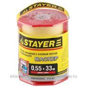 "Пленка STAYER ""PROFI"" защитная с клейкой лентой ""МАСКЕР"", HDPE, в диспенсере, 10 мкм, 0,55 х 33 м фото"