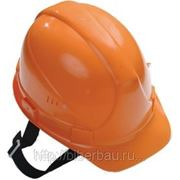 Каска строительная оранжевая фото