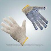 Перчатки трикотажные c ПВХ 5нити фото