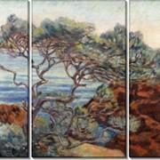 Модульная картина Красные скалы в Агай, 1898, Гийомен, Арманд фото