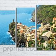 Модульна картина на полотні Vernazza. Cinque Terre National Park код КМ80106-058 фото