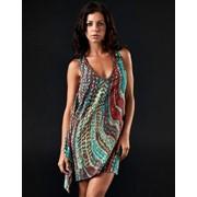 Шелковое женское платье Affliction Sidewinder фото