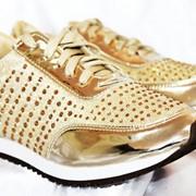 Кроссовки женские золото фото