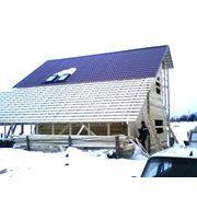 Возведение крыши. фото