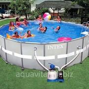 Бассейн (круглый) каркасный Intex 28332 (549*132 см) с песочным фильтром фото
