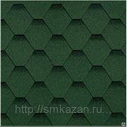 Гибкая черепица Shinglas Классик Кадриль Зеленый фото