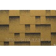 Гибкая черепица Катепал Rocky Золотой песок фото
