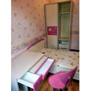 Кровать с матрасом, шкаф, стол, стул в детскую фото