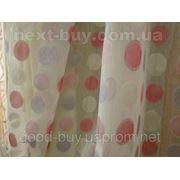 Тюль Полуорганза - Цветные кружочки Турция 2742 -1