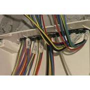 Монтаж силового и слаботочного кабеля. фото