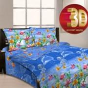 Ткань постельная Бязь 125 гр/м2 220 см Набивная/3D Карибское море 3951-1/S TDT фото
