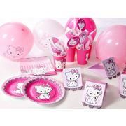 Одноразовая посуда Hello Kitty для детских праздников фото