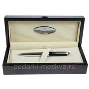 "Ручка шариковая ""LA GEER"", стерлинговое серебро, шкатулка - дерево 50503-BP фото"