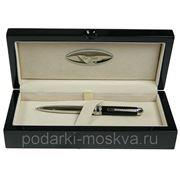 "Ручка шариковая ""LA GEER"", стерлинговое серебро, шкатулка - дерево 50506-BP фото"