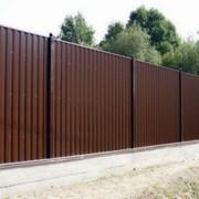 Забор из профнастила, профильной трубы. Краснодар фото