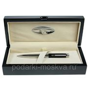 "Ручка шариковая ""LA GEER"", стерлинговое серебро, шкатулка - дерево 50507-BP фото"