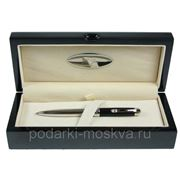 "Ручка шариковая ""LA GEER"", стерлинговое серебро, шкатулка - дерево 50505-BP фото"