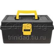 Ящик для инструментов FIT пластиковый (31,5х15х18 см), черно-желтый фото