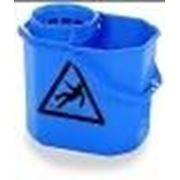 Ведро 12 литров для уборки с решеткой-отжимом (Синее) фото