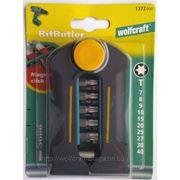 Набор Wolfcraft из 10 твердосплавных насадок с магнитным держателем BitButler фото