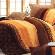 Комплект хлопкового постельного белья с качественной печатью фото
