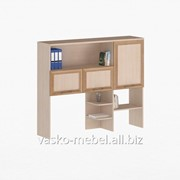 Надстройка для стола, Васко СОЛО-026 Корпус дуб молочный, фасад слива/дуб молочный фото